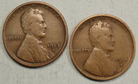 PAIR OF BETTER DATE LINCOLN CENTS, 1913-S & 1915-S,  GOOD  0213-19