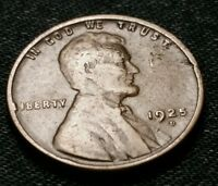 1925 D LINCOLN WHEAT CENT NOT SURE GRADE ESTATE COIN. 1011