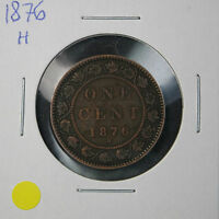 1876 H CANADA 1 CENT COIN ID:YEL