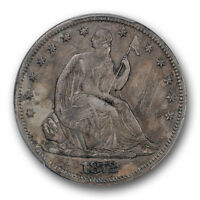 1872 CC 50C LIBERTY SEATED HALF DOLLAR PCGS AU ABOUT UNCIRCULATED DETAILS