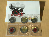 2015 REMEMBRANCE COIN PACK FLANDERS FIELDS AND POPPY   TOONIE AND POPPY QUARTER