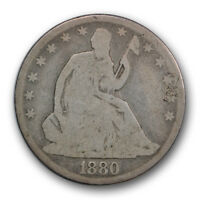 1880 50C LIBERTY SEATED HALF DOLLAR GOOD G LOW MINTAGE R474