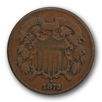 1872 2C TWO CENT PIECE  FINE VF LOW MINTAGE US COIN R497