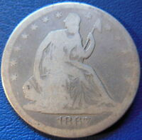 1867 SEATED LIBERTY HALF DOLLAR GOOD VG P MINT US COIN PHILADELPHIA 8203