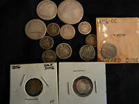 LOT X14 SEATED LIBERTY HALF DIME,DIME,QUARTERS,HALVES 1853 1890 1876 CC
