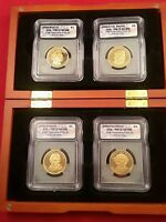 PRESIDENTIAL 2008 ICG PR70 PROOF 4-COIN SET ALL MINT