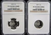 2007 S AND 2008 S NICKEL NGC PF 70 ULTRA CAMEO AND R $38 AND $50 IN PRICE GUIDE