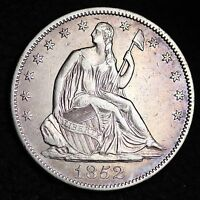 1852 O SEATED LIBERTY HALF DOLLAR CHOICE AU  E399 LLM