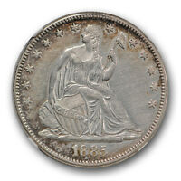 1885 SEATED LIBERTY HALF DOLLAR NGC AU ABOUT UNCIRCULATED DETAILS