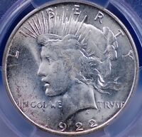 1922 D PEACE DOLLAR PCGS MS 63 FLASHY WHITE LUSTER WITH A BIT OF HAZE