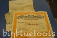 ALLIED MINES & EXPLORATION OLD STOCK CERTIFICATE JUNE 1935 W/ENV LETTER