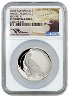 2016 P AUSTRALIA 1 OZ SILVER HR WEDGE TAILED EAGLE NGC PF70  MERCANTI  SKU38757