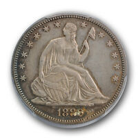 1880 50C LIBERTY SEATED HALF DOLLAR PCGS AU DETAILS PROOF TOOLED