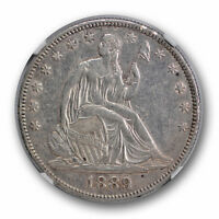 1889 SEATED LIBERTY HALF DOLLAR NGC AU ABOUT UNCIRCULATED DETAILS