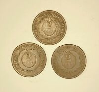 1870 U.S. TWO CENT PIECE LOT OF THREE COINS  LOTJP231676