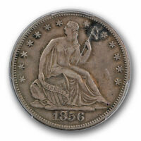 1856 S 50C LIBERTY SEATED HALF DOLLAR PCGS VF 35 FINE TO XF TOUGH