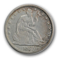 1880 50C LIBERTY SEATED HALF DOLLAR VF FINE DAMAGED R748