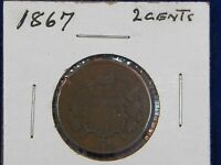 1867 TWO CENT PIECE FROM ESTATE