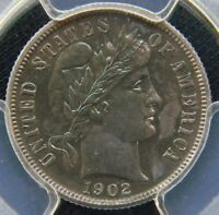 1902 PROOF BARBER DIME PCGS PR64 . STUNNING LUSTER AND BLUE COLOR