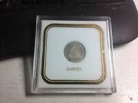 1877 SEATED LIBERTY QUARTER IN NICE HOLDER
