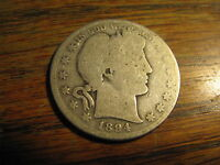 1894 P  BARBER SILVER HALF DOLLAR      LOT BH TXC