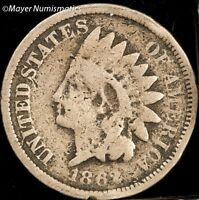 1862 SMALL CENT INDIAN HEAD PENNY 1C 2064.D1639 G  GOOD