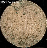 1871 TWO CENT PIECE 2C 3609.D0939 F  FINE  CORRODED