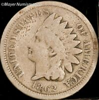 1862 SMALL CENT INDIAN HEAD PENNY 1C 2064.D1637 G  GOOD