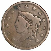 1836 1C N ? CORONET HEAD CENT SEE DESCRIPTION  HARSLY CLEANED