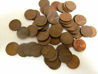 1958 D CIRCULATED LINCOLN WHEAT PENNY CENT ROLL 50 COIN & TUB