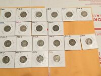 20 COIN JEFFERSON NICKEL 1940 1941 1942 1943 1944 1945 1946 P D S 11 WAR SILVER
