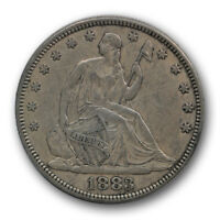 1883 50C LIBERTY SEATED HALF DOLLAR EXTRA FINE XF LOW MINTAGE R445