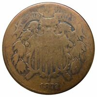 1872 2 CENT - KEY DATE, CLEANED/POLISHED, OVERALL STILL  -