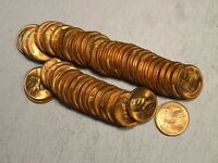 UNCIRCULATED ROLL, 1953-D LINCOLN CENTS,  BU COINS   0328-40