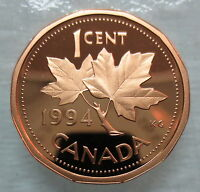 1994 CANADA 1 CENT PROOF PENNY COIN