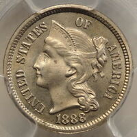 1888 THREE CENT NICKEL PCGS CERTIFIED PROOF 64 SLABBED