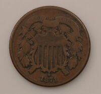 1871 TWO-CENT PIECE Q69