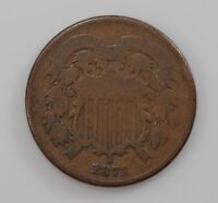 1871 TWO-CENT PIECE Q89