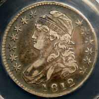 1812 BUST HALF DOLLAR CERTIFIED CHOICE FINE PQ AND ORIGINAL