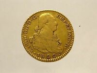 1800 OLD COLONIAL US $4  GOLD SPAIN GOLD 2 ESCUDO DOUBLOON WILL SHIP WORLDWIDE