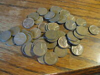 ROLL OF 50 1955 D WHEAT PENNIES   VF   AU   LOT   BOX C DFF