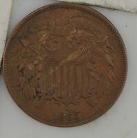 1865 TWO-CENT PIECE Z82