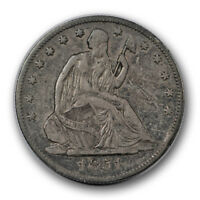 1851 O 50C LIBERTY SEATED HALF DOLLAR EXTRA FINE XF NEW ORLEANS SCRATCHED R1004