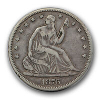 1876 CC 50C LIBERTY SEATED HALF DOLLAR FINE TO EXTRA FINE CARSON CITY R1063