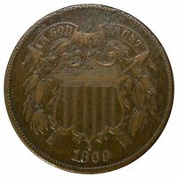 1869 2 CENT - HIGHER GRADE WITH ISSUES -