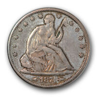 1874 S 50C ARROWS LIBERTY SEATED HALF DOLLAR EXTRA FINE XF TOUGH DATE R1096