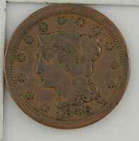 1846 BRAIDED HAIR LARGE CENT Z79