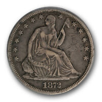 1872 CC 50C LIBERTY SEATED HALF DOLLAR PCGS VF 25 CARSON CITY MINT