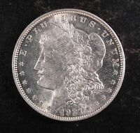 1921 D MORGAN SILVER DOLLAR  BU.