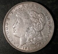 1921 D MORGAN SILVER DOLLAR  XF TO AU DETAILS.